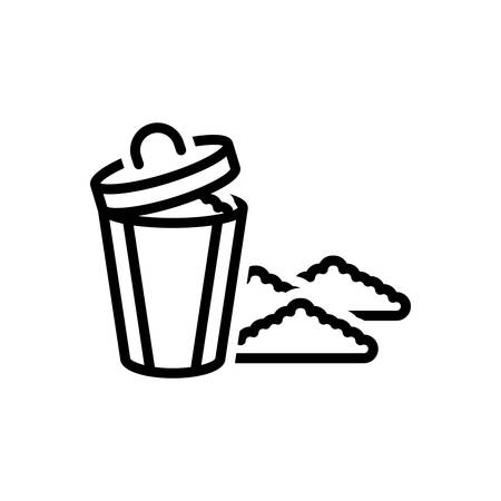 Icon for garbage,rubbish Illusztráció