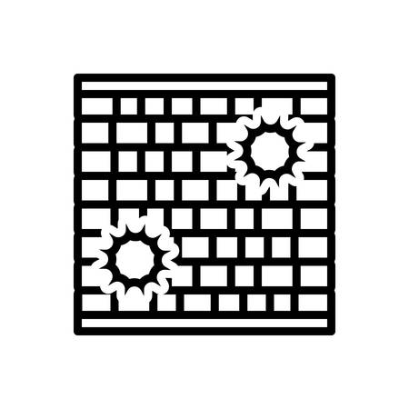 Icon for wall,enclosure 向量圖像