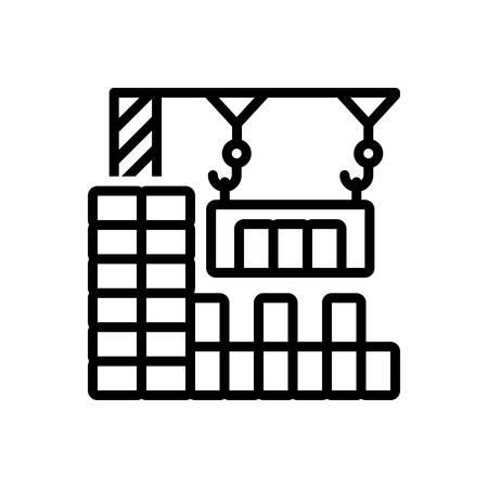 Icon for construction,crane Banque d'images - 130467209