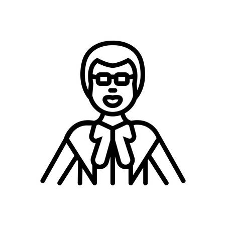 Icon for lawyer,jurist Illustration