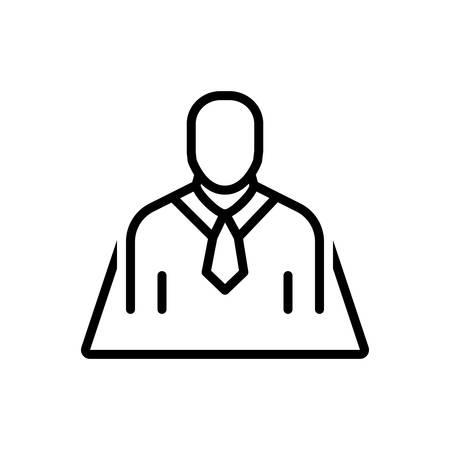 Icon for position,designation Ilustração