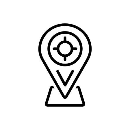 Icon for position,location Ilustracja