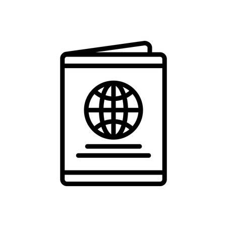 Icon for passport, immigration Illustration