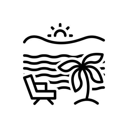 Icon for beach, seaside Ilustração