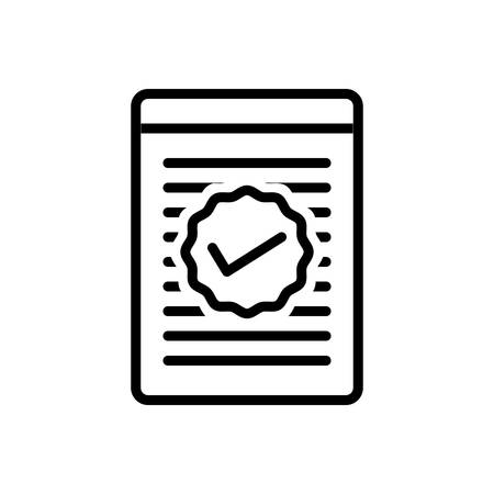 Icon for checked ,checklist