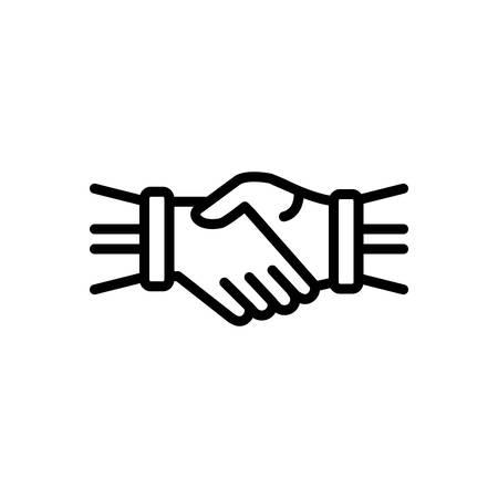 Icône pour poignée de main, main