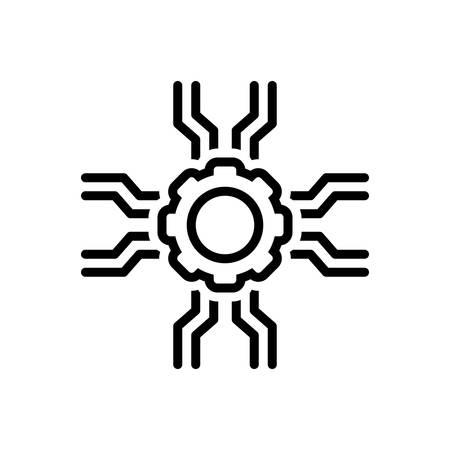 Icon for support,endorsement Illusztráció