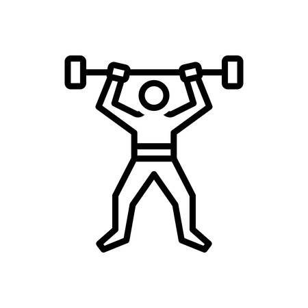 Icon for fitness,robustness