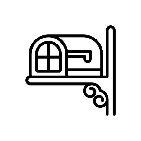 Icon for mailbox,letter box Illusztráció