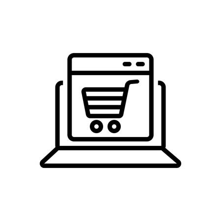 Icon for ecommerce, online 向量圖像
