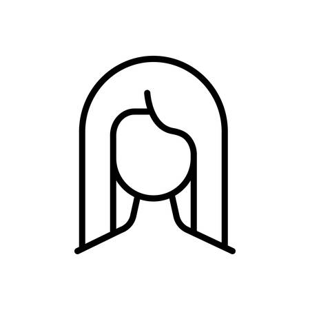 Icon for hair, woman Ilustracja