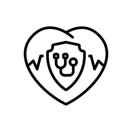 Icon for insurance, life