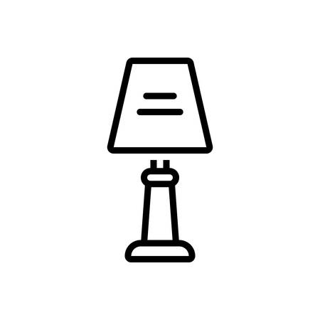 Icon for lamp, table lamp Ilustração
