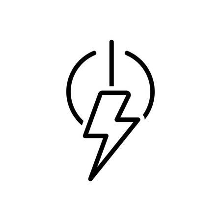Icon for power ,energy Stok Fotoğraf - 130470042