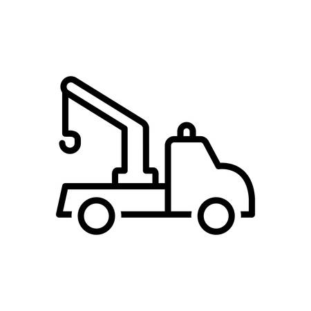 Icon for tow truck,transportation