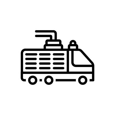 Icon for fire truck,safety