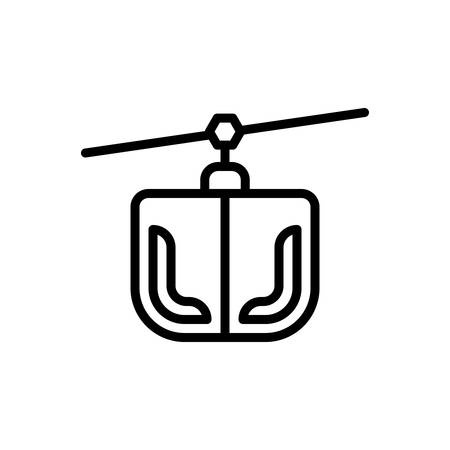 Icon for funicular,ropeway 向量圖像