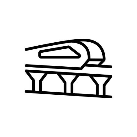 Icon for monorail,carriage Illustration