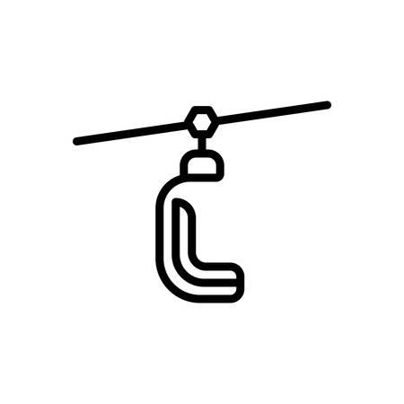 Icon for ski lift,slope Banque d'images - 130470171