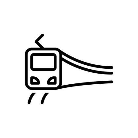 Icon for subway train,passenger