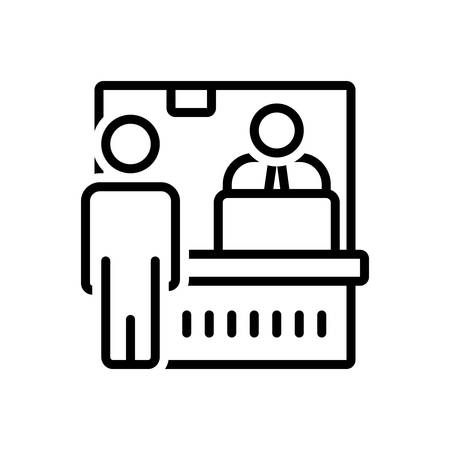 Icon for ticket counter,passenger