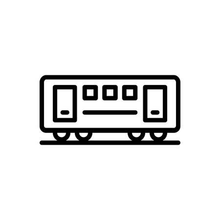 Icon for train,coach Illustration