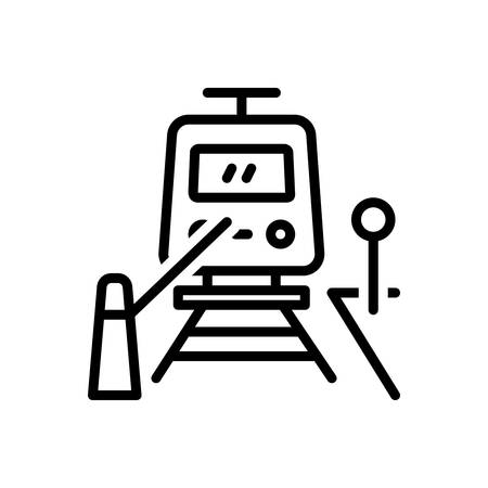Icon for railway,crossing