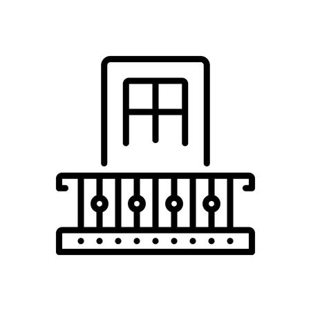 Icon for mezzanine,balcony