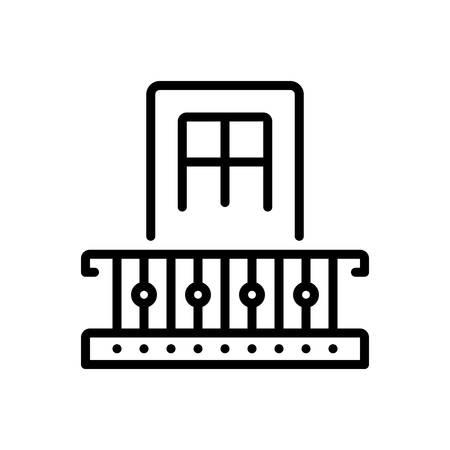 Icon for mezzanine,balcony 矢量图像