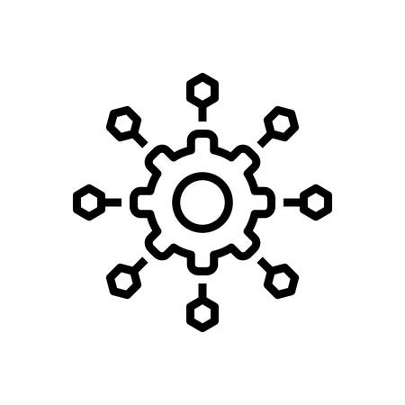 Icono de microservicios, software