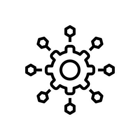 Ikona mikroserwisów, oprogramowania