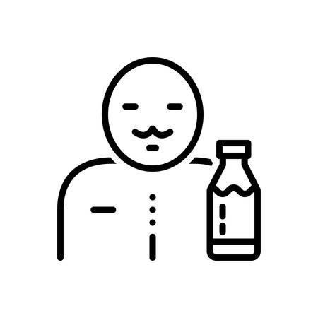 Icon for milkman,milk