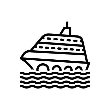 Icon for cruise,ship
