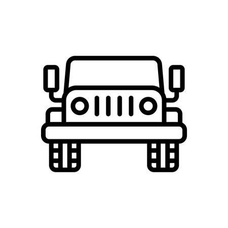 Icon for jeep,automobile Vector Illustration