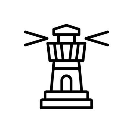 Icon for lighthouse,architecture Illusztráció