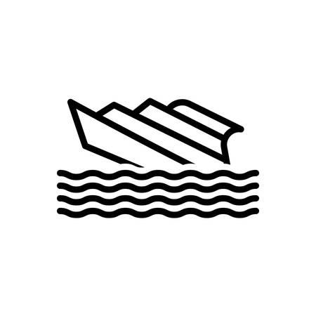 Icon for shipwreck,capsized