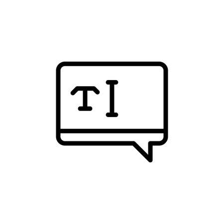 Icon for text,typography Illusztráció