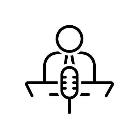 Icon for narrate,describe Иллюстрация