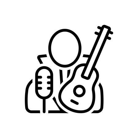 Icon for necrophagist,musician Ilustração