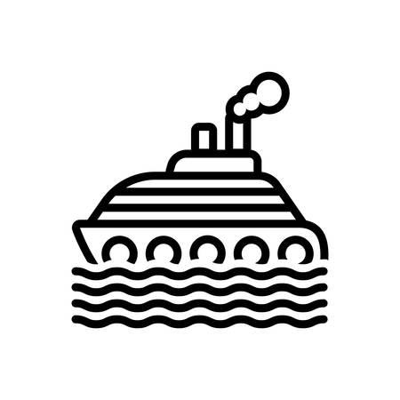 Icon for ship,cruise Stock Illustratie