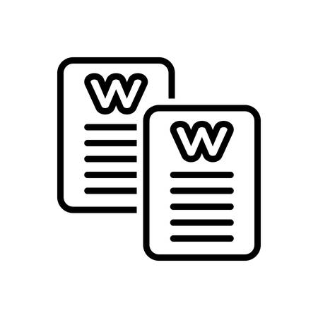 Icon for word,script
