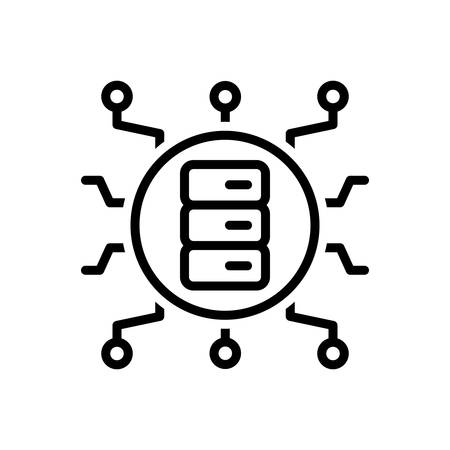 Icon for big data,storage Zdjęcie Seryjne - 130471922