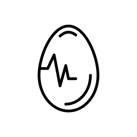 Icon for egg, testicle Vector Illustration