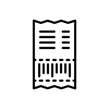 Icon for bill,paper Stock Illustratie