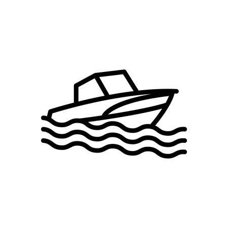 Icon for boat,silhouette