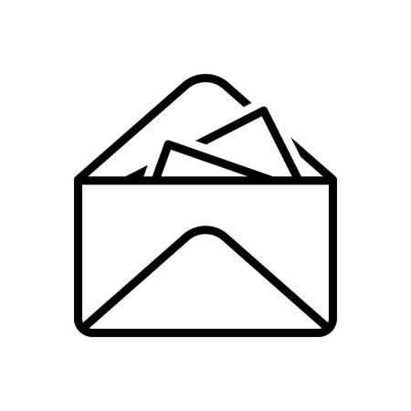 Icon for inbox message,inbox Иллюстрация