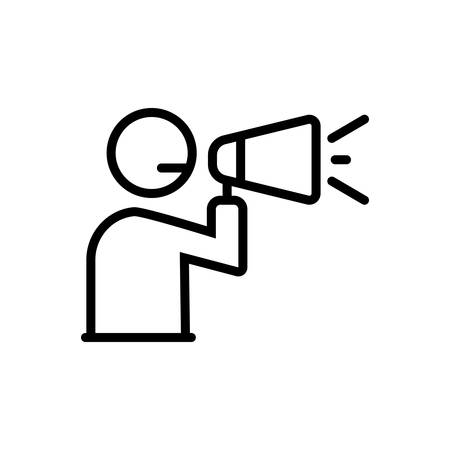 Icon for announcement,megaphone