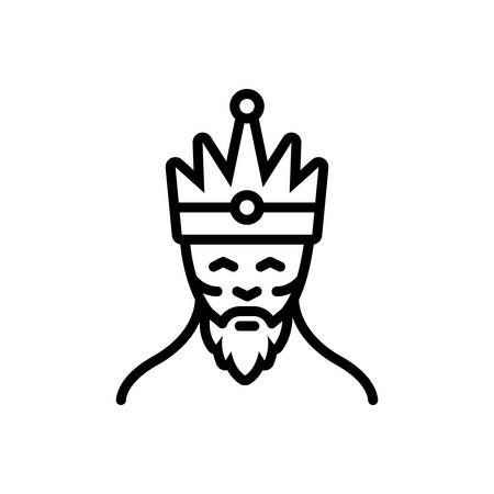 Icon for king,monarch Ilustracja