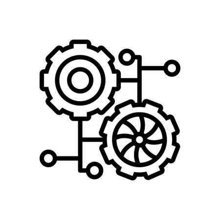 Icon for connection process,connection