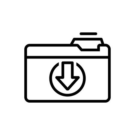 Icon for download folder,document  イラスト・ベクター素材